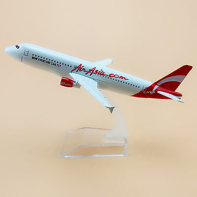 16Cm Airplane Model Plane White Air Asia Airbus 320 A320 Airlines Aircraft Toy