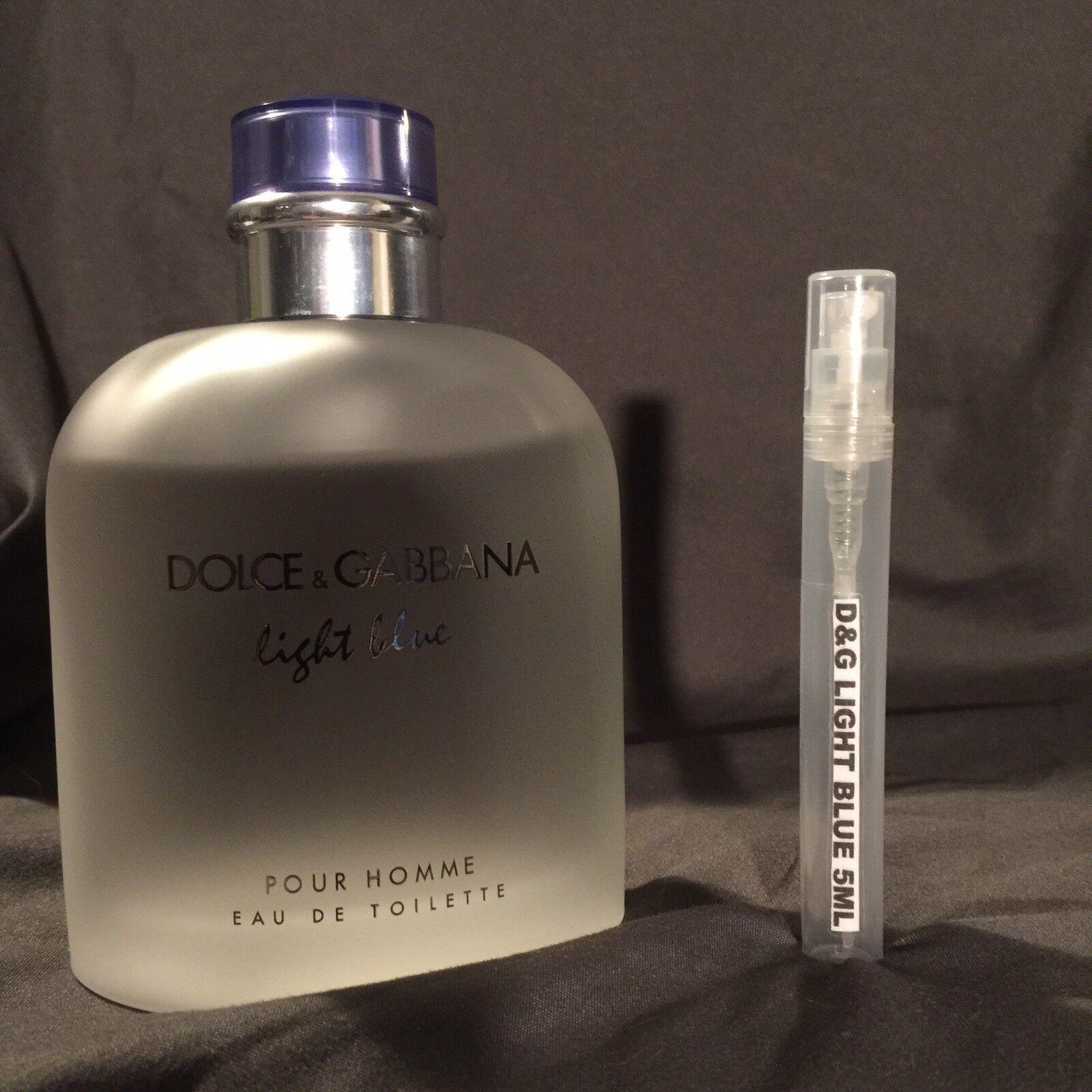 DOLCE & GABBANA LIGHT BLUE Men's EDT Cologne SAMPLE 5ML DECA