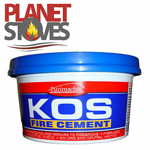 Black Fire Cement 2kg for Flue Pipe Seals - Ready Mix Furnace Cement