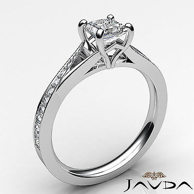 Split Shank Cathedral Princess Diamond Engagement Pave Set Ring GIA D SI1 0.85Ct 1