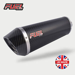 2011-16 KTM Duke 125 Diablo Carbon Oval Mini UK Street Legal Exhaust + Black Bkt