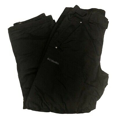 Columbia Ridge 2 Run II Omni-Tech Snow Pants Mens Size Large Black Omni-Heat Ski Run Omni Tech Pant