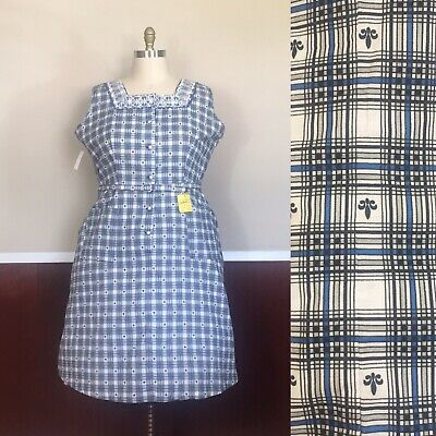 Fifties Dresses Plus Size (Vintage 1950s Plus Size Deadstock Dress Waist 44)