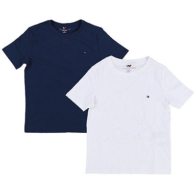Tommy Hilfiger Kids T-Shirt Big Boys Solid Crew Neck Tee Children Size 4-18 (Hilfiger Kids)