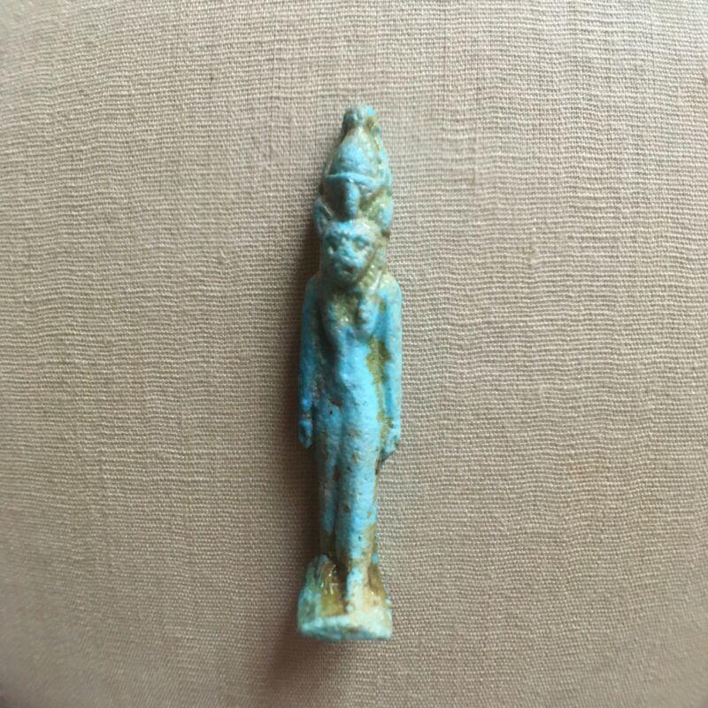 Egyptian Faience Sekhmet  Amulet