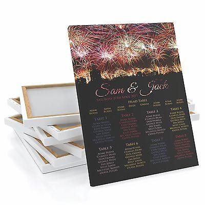 Fireworks Wedding Table Seating Plan Chart Charity Gala Night Frame Canvas Print