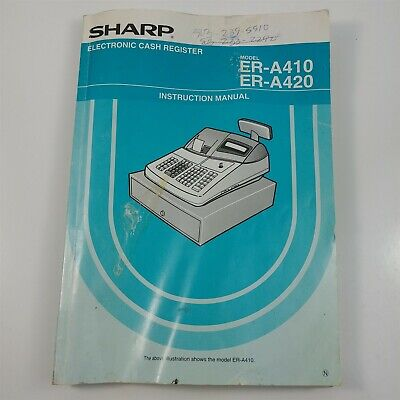 Sharp Cash Register Er-a420 Replacement Operator Instruction Manual - Well Used