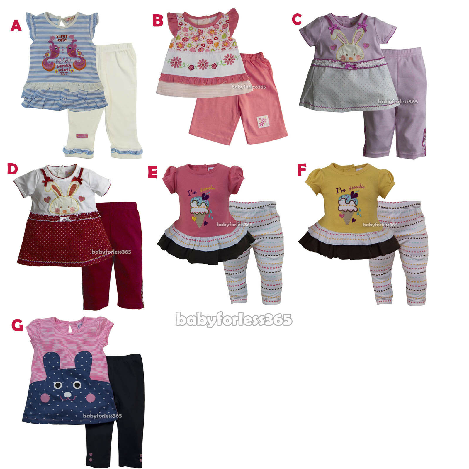 Lot of 9 pcs Size 18 months Baby Girls Clothing