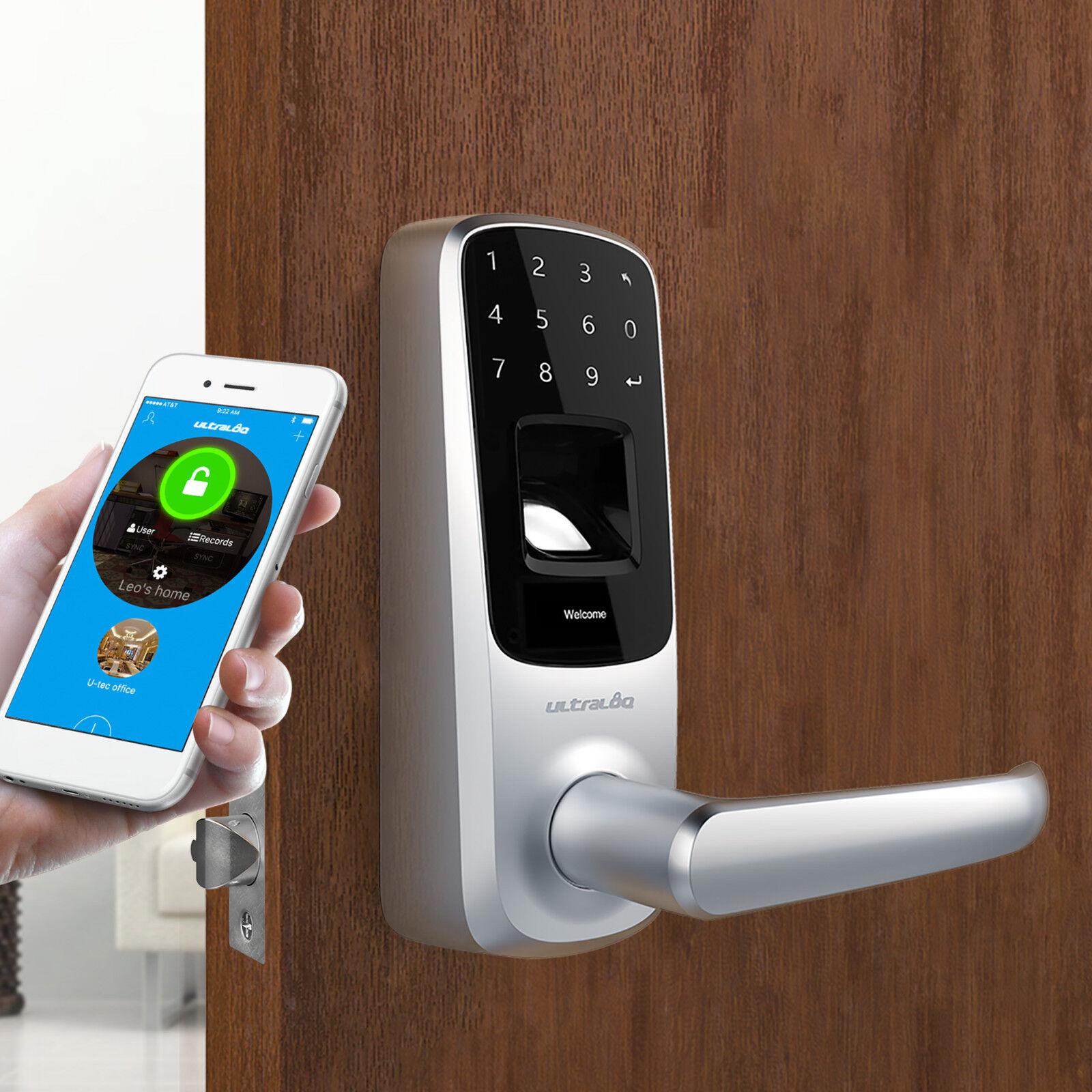 Bluetooth Enabled Fingerprint & Touchscreen Keyless Smart Do