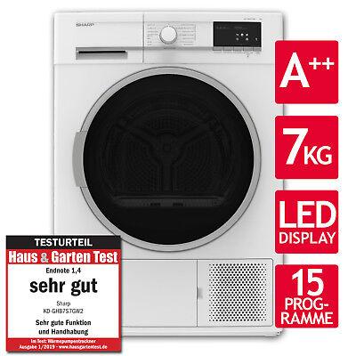 Wäschetrockner Trockner Wärmepumpentrockner A++ Sharp KD-GHB7S7GW2-DE 7kg LED ()