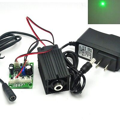 100mw 532nm Green Focusable Dot Long-work Laser Diode Module Driver 12v Adapter
