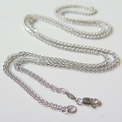 - Pure Solid Platinum 950 Men Women 2mm W Wheat Chain Necklace /15g/ 23.6inch