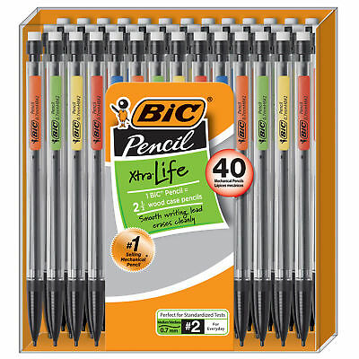 Bic Xtra-life Mechanical Pencil 0.7 Mm 40-count