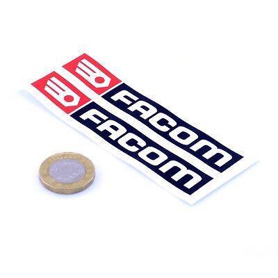 Facom Stickers Classic Car Racing Decals Vinyl 75mm x2 Motorbike Rally