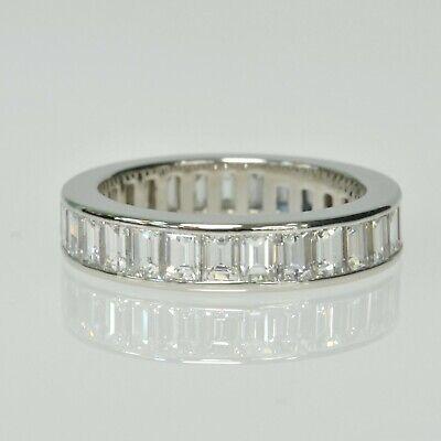 Tiffany & Co. PLATINUM Channel Set Baguette Diamond Eternity Band Wedding Ring  Bridal Channel Set Baguette