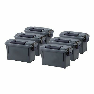 High Desert 6 Pack Plastic Lockable Water & Corrosion Resistant Ammo Boxes