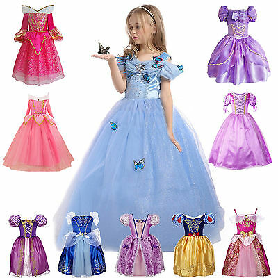 Christmas Costumes For Girls (Girls' Clothing Princess Belle Cinderella Christmas Dresses Kids Party)