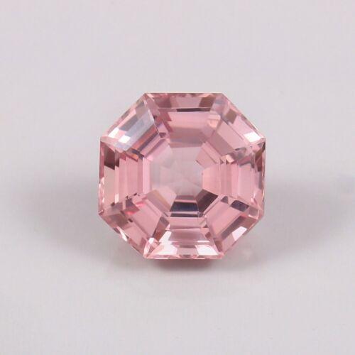 7.90 Ct Natural Mozambique Pink Morganite Asscher Cut Loose Gemstone 11x11x7 MM