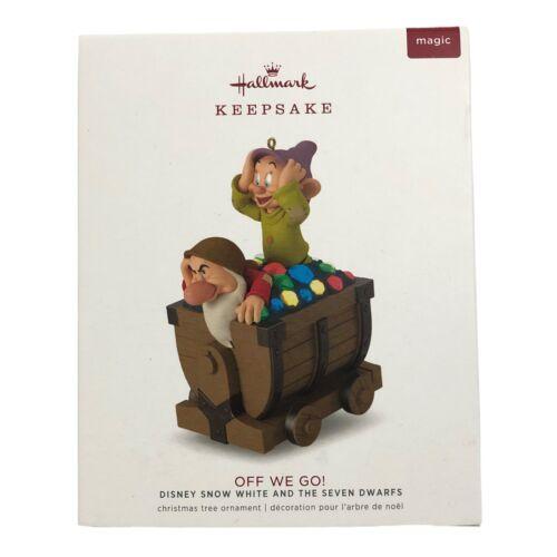 Hallmark Disney Snow White and the Seven Dwarfs Off We Go Ornament 2018 Magic Nw