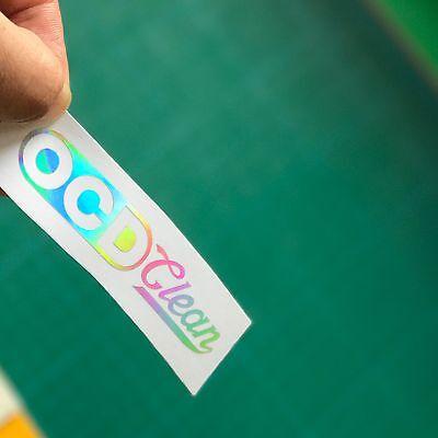 OCD Clean Reflective Sticker Decal For Car Van Window Dashboard Oil Spill Chrome