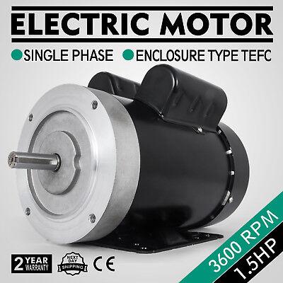 Electric Motor 1.5hp 56c 1 Phase Tefc 115230v 3600rpm 60hz Keyed Shaft