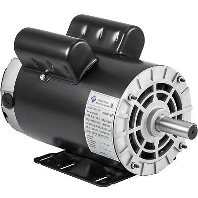 3.7 Hp Air Compressor Duty Electric Motor 56 Frame 3450 Rpm Single Phase Vevor