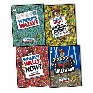 Where's Wally Collection of 5 Large Classic Books Set by Martin Handford