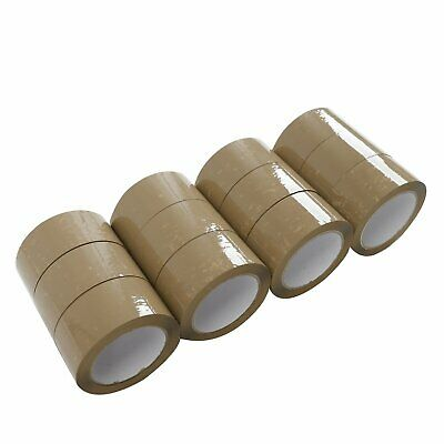 72 ROLLS - 2 INCH x 110 Yards Packing Sealing Shipping Package BROWN Tape 2-MiL