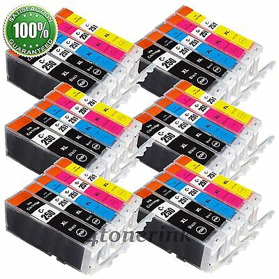 *30PK New Ink Cartridge For Canon PGI-250XL CLI-251XL PIXMA MG7520 MG6620 MG5620