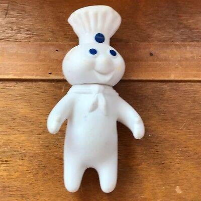 Vintage 1971 Dated Small Rubber Pillsbury Dough Boy Advertising Figurine – 7.5