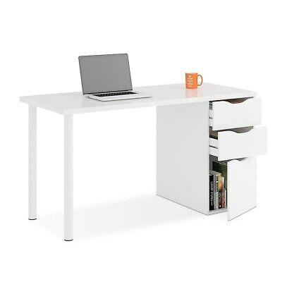 Mesa de ordenador con cajonera,escritorio para oficina despacho, Blanco, Athena