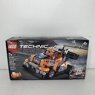 LEGO Technic Race Truck 42104 Pull-Back Model Truck Building Kit, New 2020