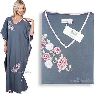 LADIES WOMENS NIGHTDRESS KAFTAN SOFT COTTON FEEL NIGHTWEAR PLUS SIZE