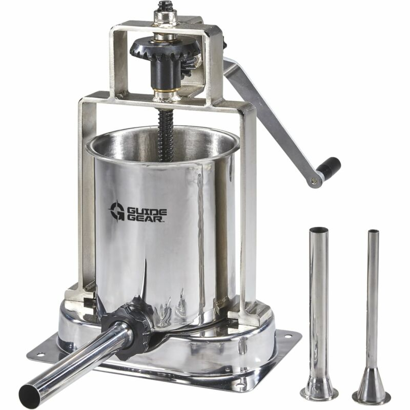 Guide Gear Stainless Steel 15-Lb. Capacity Home Sausage Meat Stuffer Press Maker