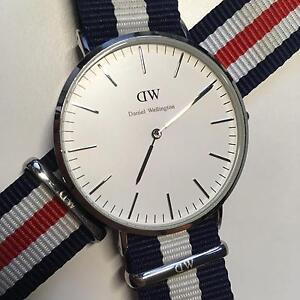 DW Classic Silver 40mm with NATO Straps Southbank Melbourne City Preview
