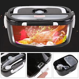 Heating Lunch Box Wall Plug Electric Heated Bento Food Warmer Travel Camping UK