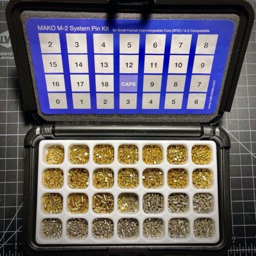 Mako M-2/M2 A2 High Security SFIC Pinning Kit - spool, mushroom pins, Locksport