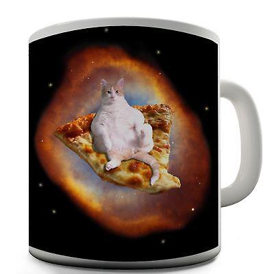 Space Pizza Cute Cat Funny Design Novelty Gift Tea Coffee Office Mug