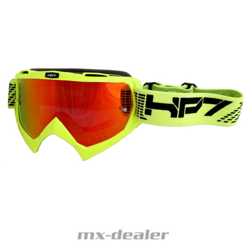 HP7 MX Brille weiß blau verspiegelt Motocross Enduro HP 7 Crossbrille MTB BMX
