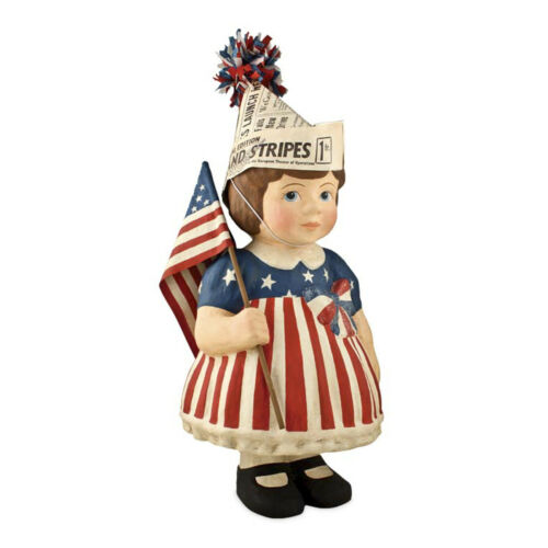 Bethany Lowe 4th Of July American Flag Patriotic Betsy Figurine Home Decoration