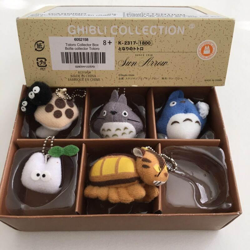 Totoro Studio Ghibli Collection Collector Box Keychain Plush Gund *missing 1