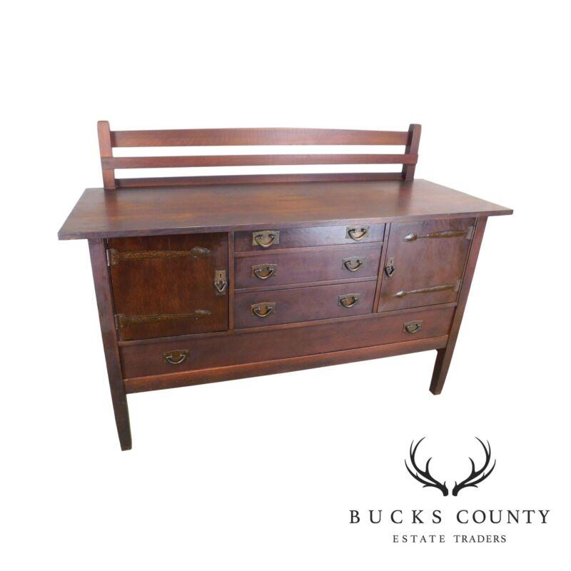 Gustav Stickley Antique Mission Oak Sideboard