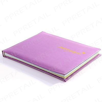 Quality Hardback 12 x 15cm Autograph Book Theme Park Signing Celeb School Sports