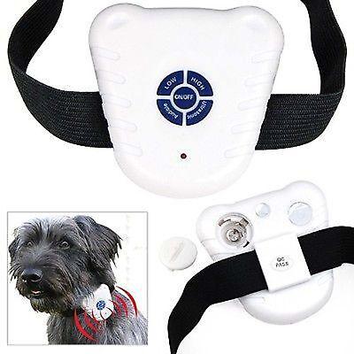 Ultrasonic Dog Anti Bark No Stop Barking Control Collar Train Device