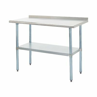 Rockpoint Nsf Stainless Steel Commercial Kitchen Work Table With Backsplash ...