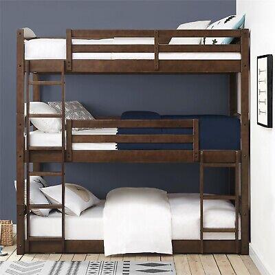 Better Homes Tristan Twin Floor Triple Bed Bunk Bedroom Furniture Wood