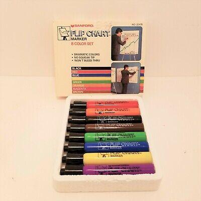Sanford Flipchart Markers Set Of 8 Made Usa Vintage New Old Stock