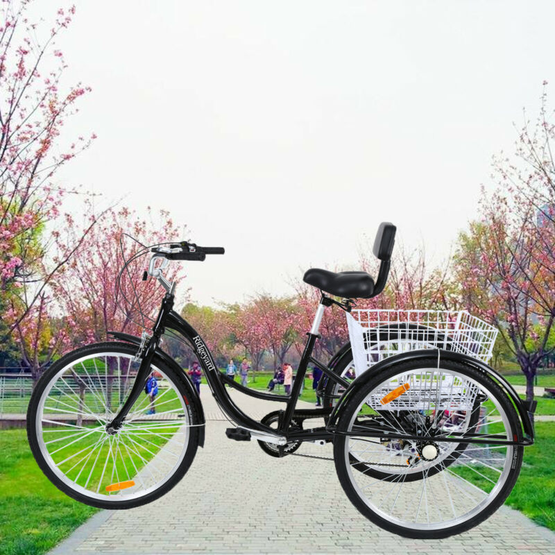 "7-Speed Adult 26"" 3-Wheel Tricycle Trike Bicycle Bike Cruise"