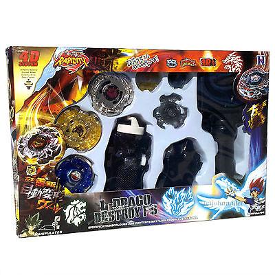 Beyblade Lot Set w/ Beat Lynx, Screw (Spiral) Fox, L-Drago Guardian - USA SELLER