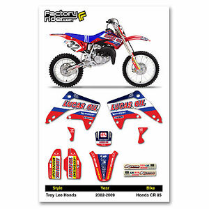 2002-2009  HONDA CR 85 TLD Dirt Bike Graphics kit Motocross Graphics Decal